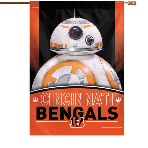 NFL ベンガルズ スター・ウォーズ シングルサイド ハウス バナー フラッグ/旗 ウィンクラフト/WinCraft