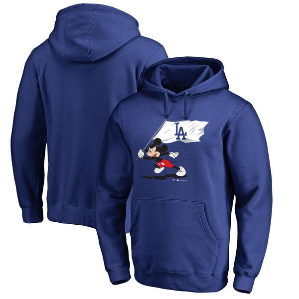 お取り寄せ MLB ドジャース ディズニー フライ ユア フラッグ プルオーバー パーカー/フーディー ロイヤル