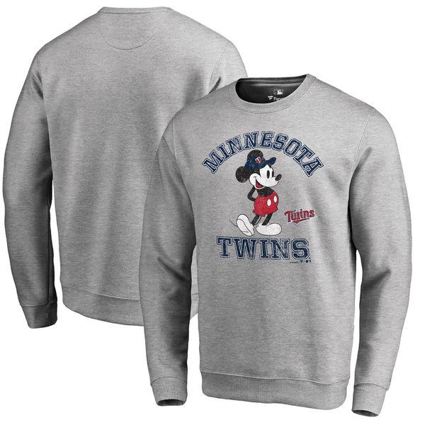 お取り寄せ MLB ツインズ ディズニー トラディション プルオーバー スウェットシャツ/トレーナー ヘザーグレー