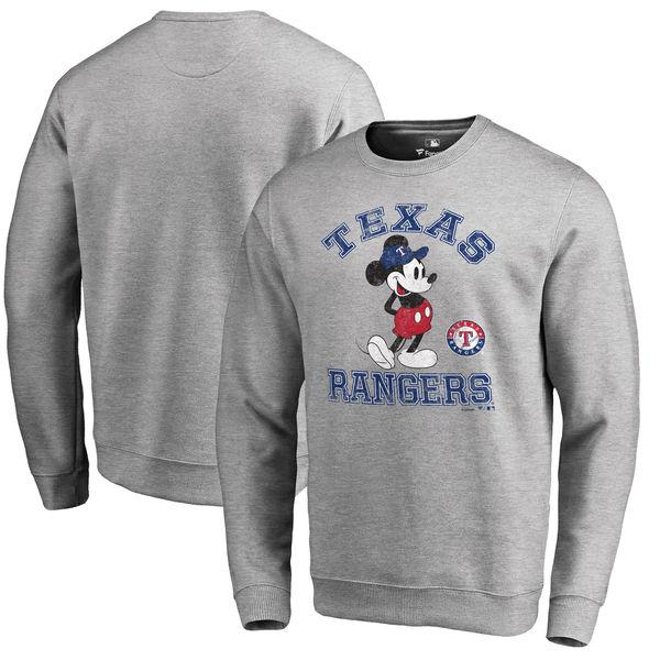 お取り寄せ MLB レンジャーズ ディズニー トラディション プルオーバー スウェットシャツ/トレーナー ヘザーグレー