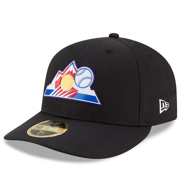 お取り寄せ MLB ロッキーズ 2018 プロライト バッティング プラクティス ロープロファイル 59FIFTY キャップ ニューエラ/New Era ブラック