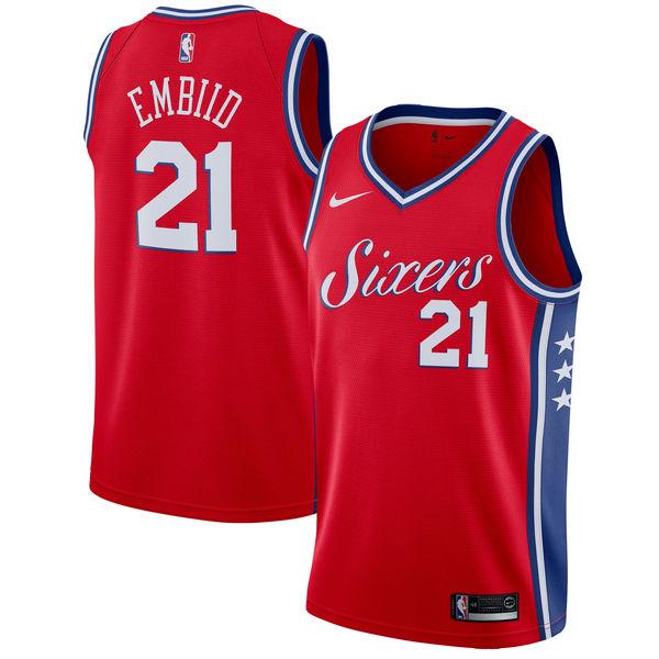 お取り寄せ Nike/ナイキ NBA 76ers ジョエル・エンビード スウィングマン ユニフォーム/ジャージ ステートメント エディション
