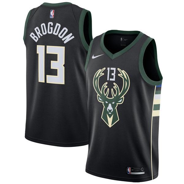 お取り寄せ Nike/ナイキ NBA バックス マルコム・ブログドン スウィングマン ユニフォーム/ジャージ ステートメント エディション