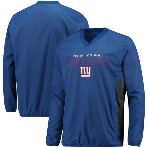 お取り寄せ NFL ジャイアンツ アイコニック ウーブン Vネック クルー プルオーバー ジャケット/アウター ロイヤル
