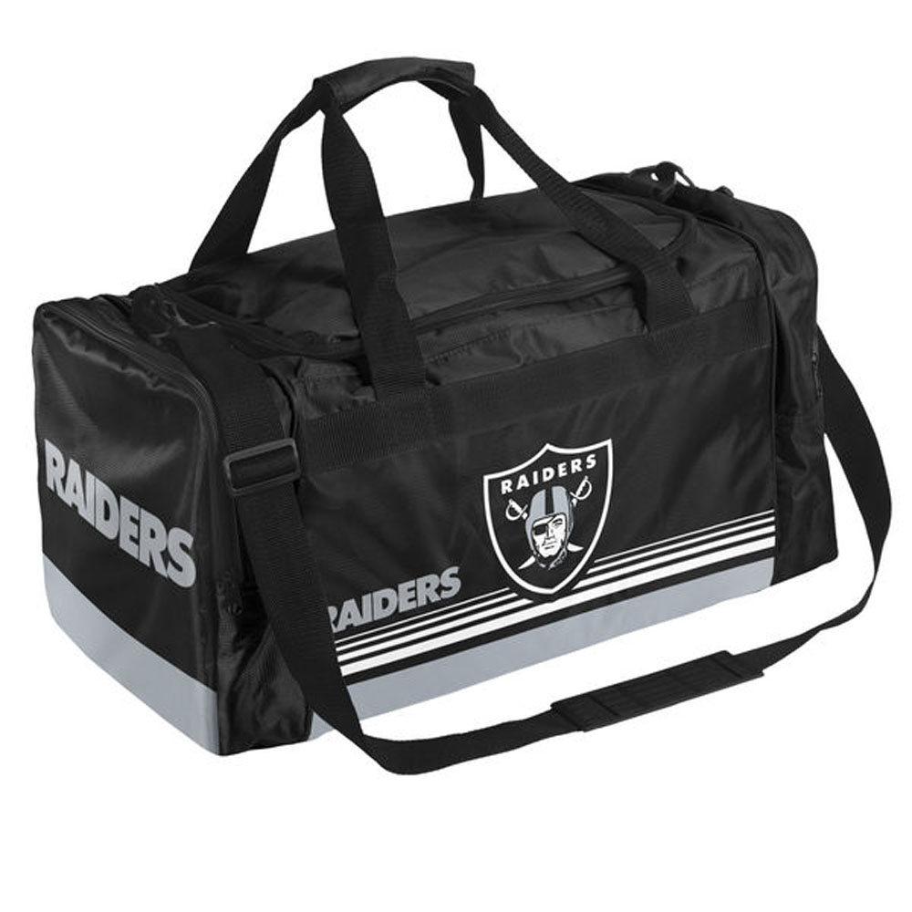 NFL レイダース ストライプド ダッフルバッグ/ショルダーバッグ Forever Collectibles(フォーエバーコレクタブルズ)