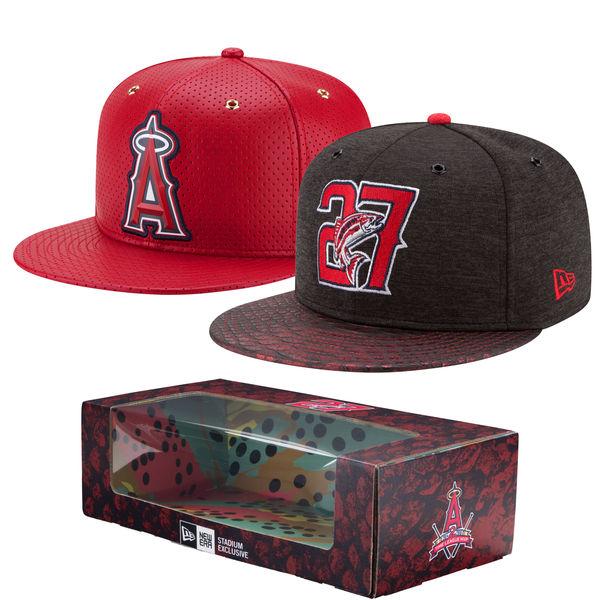 エンゼルス キャップ ニューエラ NEW ERA MLB マイク・トラウト 2-Time MVP アジャスタブル ボックス セット レッド
