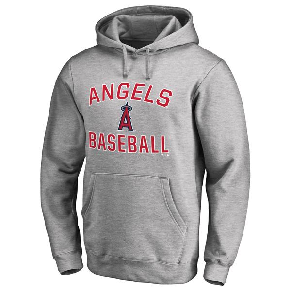 お取り寄せ MLB エンゼルス ビクトリー アーチ プルオーバー パーカー アッシュ