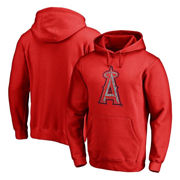 お取り寄せ MLB エンゼルス スタティック ロゴ プルオーバー パーカー レッド