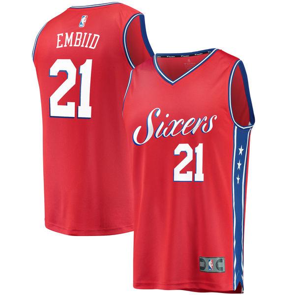 お取り寄せ NBA 76ers ジョエル・エンビード ファストブレーク レプリカ ユニフォーム/ジャージ ステートメント エディション