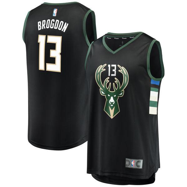 お取り寄せ NBA バックス マルコム・ブログドン ファストブレーク レプリカ ユニフォーム/ジャージ ステートメント エディション