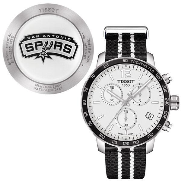 お取り寄せ NBA スパーズ 腕時計 クイックスター クオーツ クロノグラフ ティソ/Tissot ブラック