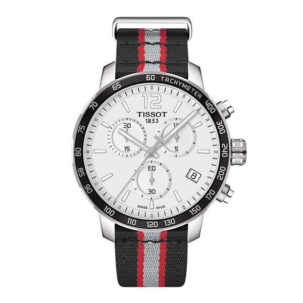 お取り寄せ NBA ラプターズ 腕時計 クイックスター クオーツ クロノグラフ ティソ/Tissot ブラック