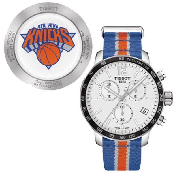 お取り寄せ NBA ニックス 腕時計 クイックスター クオーツ クロノグラフ ティソ/Tissot ブルー