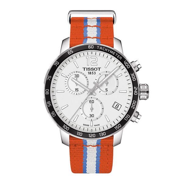お取り寄せ NBA サンダー 腕時計 クイックスター クオーツ クロノグラフ ティソ/Tissot オレンジ