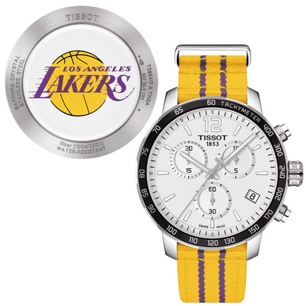お取り寄せ NBA レイカーズ 腕時計 クイックスター クオーツ クロノグラフ ティソ/Tissot イエロー