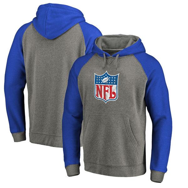 ce9224e146960e お取り寄せ NFL スローバック ロゴ Tri-Blend ラグラン お取り寄せ パーカー NFL ロゴ グレー/ロイヤル, ...