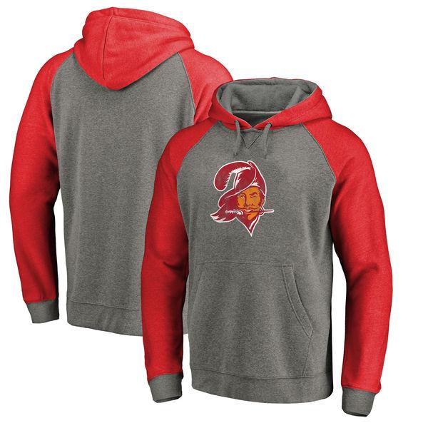 お取り寄せ NFL バッカニアーズ ラグラン スローバック ロゴ Tri-Blend NFL ラグラン パーカー グレー/レッド グレー/レッド, atmos pink:d2d760db --- rakuten-apps.jp