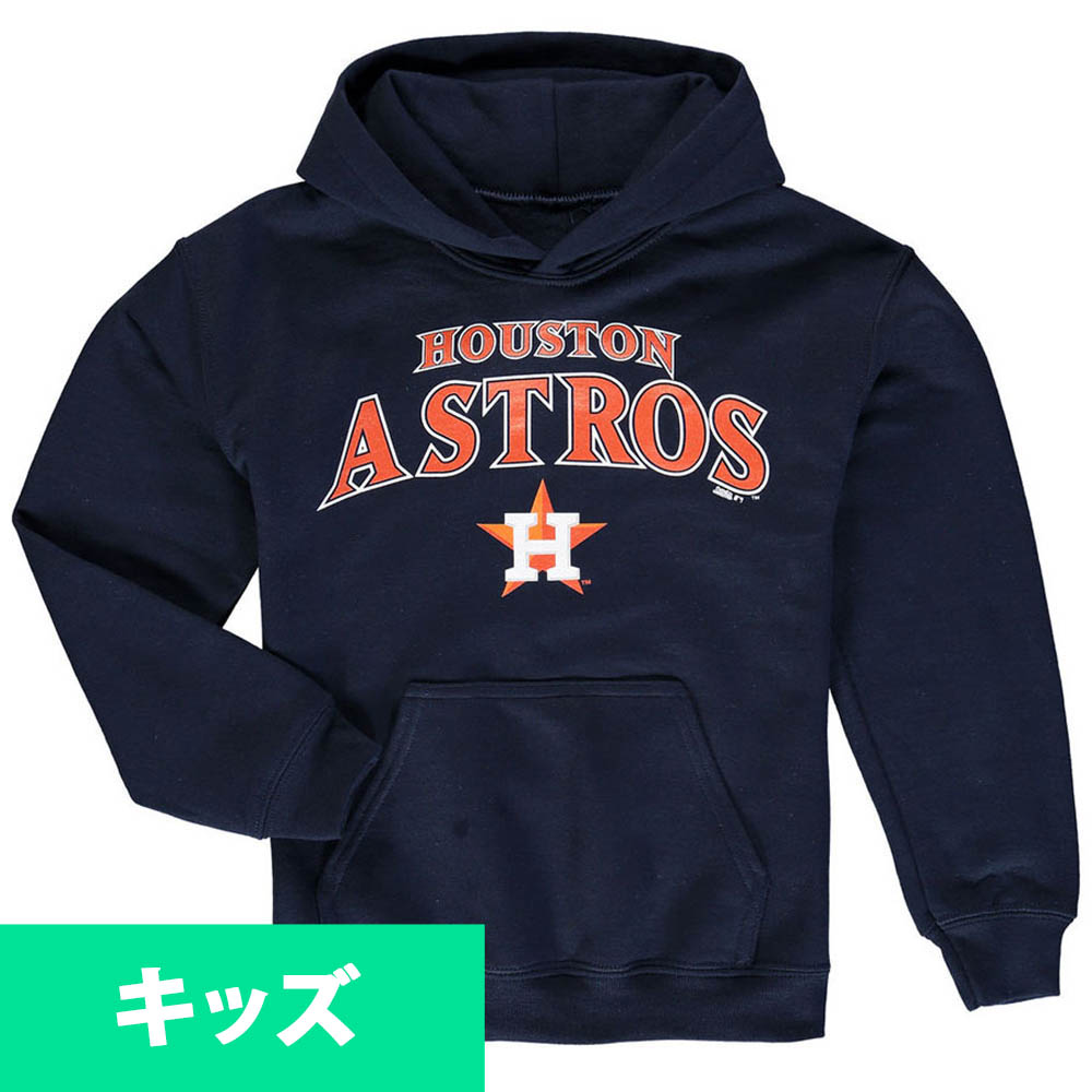 MLB アストロズ キッズ フリース プルオーバー パーカー/トレーナー Stitches ネイビー