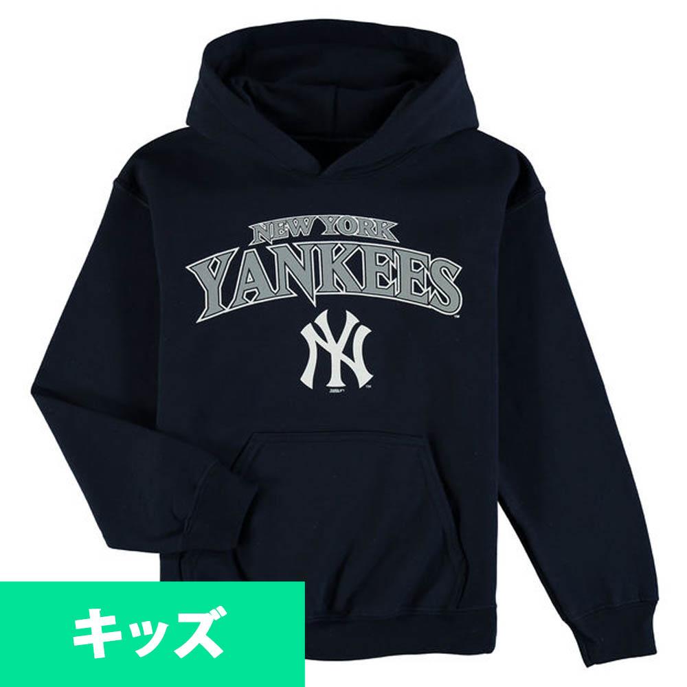 MLB ヤンキース キッズ フリース プルオーバー パーカー/トレーナー Stitches ネイビー