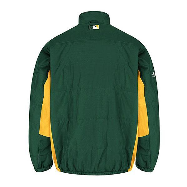 MLB Athletics authentic double gloomy mate on field jacket majestic /Majestic green