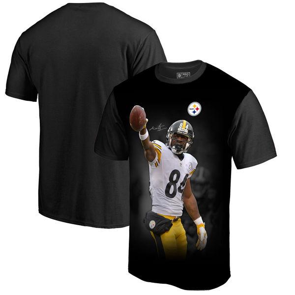 お取り寄せ NFL スティーラーズ アントニオ・ブラウン プレイヤー サブリメイテッド グラフィック Tシャツ