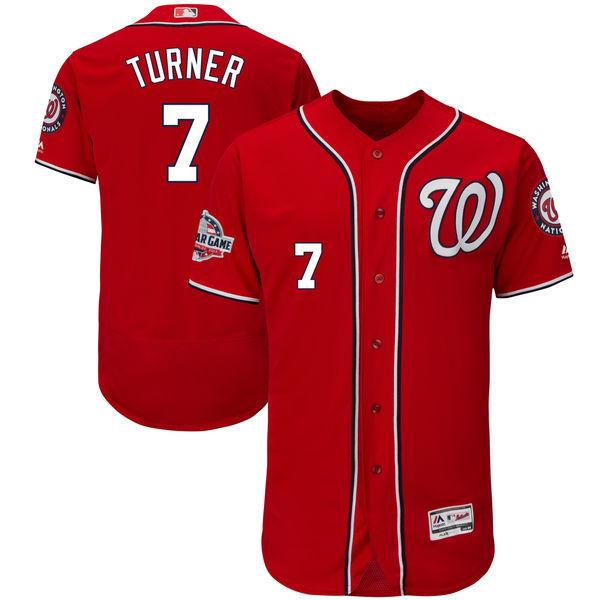 お取り寄せ MLB ナショナルズ トレイ・ターナー 2018 オールスターゲーム オーセンティック ユニフォーム マジェスティック オルタネートスカーレット