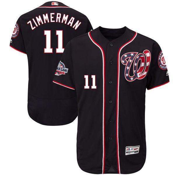 お取り寄せ MLB ナショナルズ ライアン・ジマーマン 2018 オールスターゲーム オーセンティック ユニフォーム マジェスティック オルタネートII