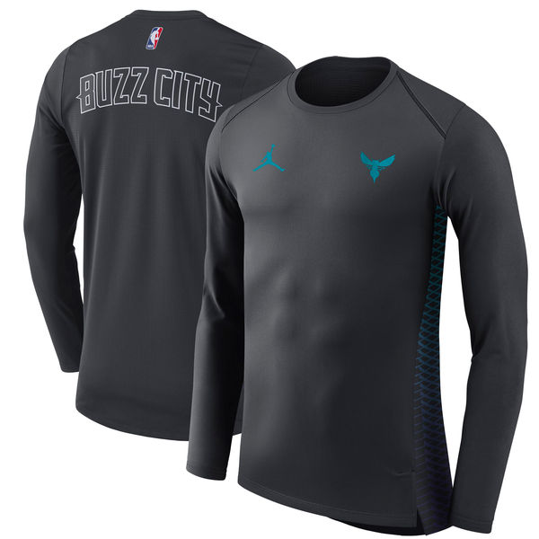 お取り寄せ NBA ホーネッツ シティエディション ハイパーライト ロング パフォーマンス Tシャツ ナイキ/Nike ブラック