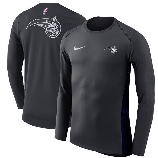 お取り寄せ NBA マジック シティエディション ハイパーライト ロング パフォーマンス Tシャツ ナイキ/Nike ブラック