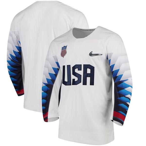お取り寄せ アイスホッケー USA代表 2018 冬季オリンピック レプリカ ユニフォーム/ユニホーム ナイキ/Nike ホワイト