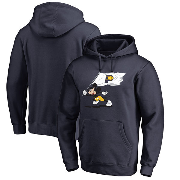 お取り寄せ NBA ペイサーズ ディズニー ミッキーマウス フライ ユア フラッグ パーカー/トレーナー ネイビー