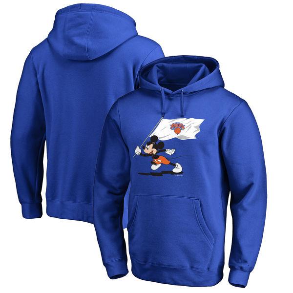 お取り寄せ NBA ニックス ディズニー ミッキーマウス フライ ユア フラッグ パーカー/トレーナー ブルー