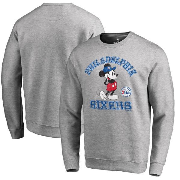 お取り寄せ NBA 76ers ディズニー ミッキーマウス トラディション スウェット トレーナー アッシュ