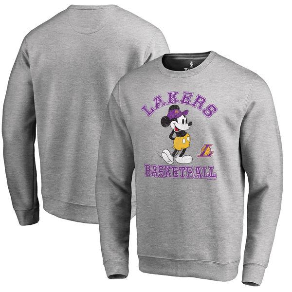 お取り寄せ NBA レイカーズ ディズニー ミッキーマウス トラディション スウェット トレーナー アッシュ
