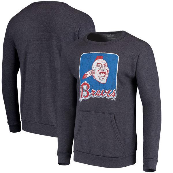お取り寄せ MLB ブレーブス クーパーズタウン・コレクション ポケット フリース スウェット トレーナー マジェスティック/Majestic ネイビー