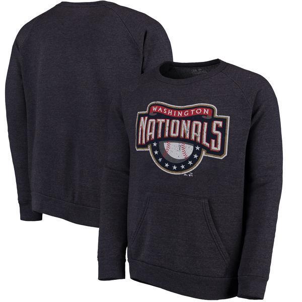 お取り寄せ MLB ナショナルズ クーパーズタウン・コレクション ポケット フリース スウェット トレーナー マジェスティック/Majestic ネイビー