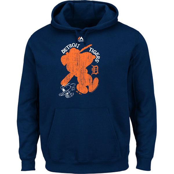 お取り寄せ MLB タイガース スウィング バッター ピーナッツ スヌーピー プルオーバー パーカー マジェスティック/Majestic ネイビー