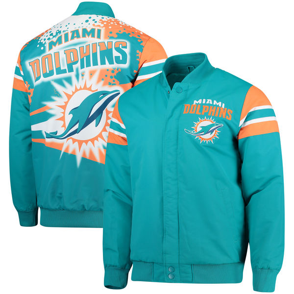 お取り寄せ NFL ドルフィンズ エクストリーム アルファ フルスナップ ジャケット ジースリー/G-III アクア