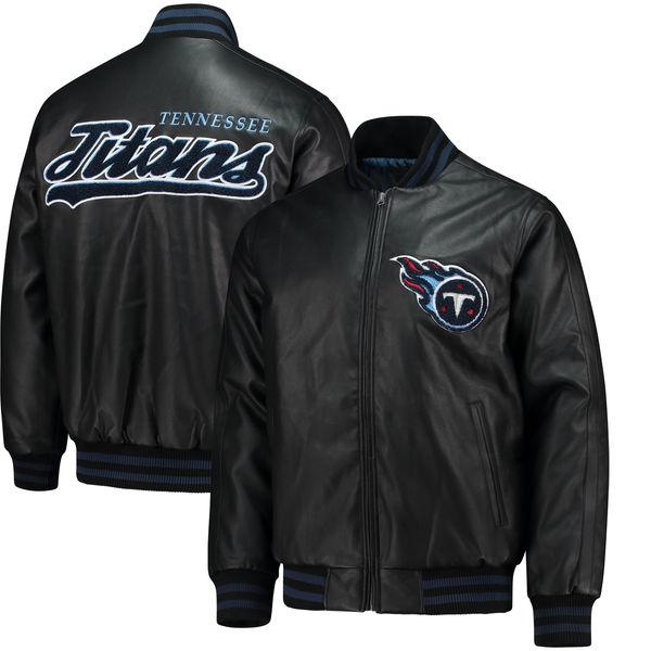 NFL タイタンズ スティフ アーム プレザー バーシティ ジャケット ジースリー/G-III ブラック