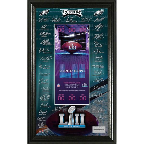 NFL イーグルス 第52回スーパーボウル 進出記念 サイン入り チケット ザ・ハイランドミント/The Highland Mint