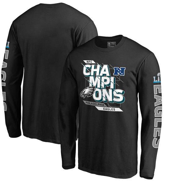 NFL イーグルス 2017 NFC カンファレンスチャンピオン記念 バンチ ロングTシャツ ブラック