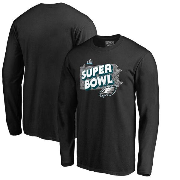 NFL イーグルス 第52回スーパーボウル 進出記念 ホームタウン トラップ ロングTシャツ ブラック