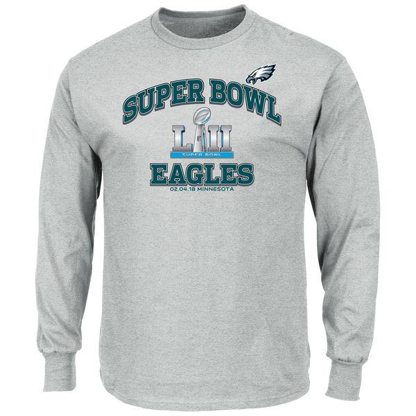 NFL イーグルス 第52回スーパーボウル 進出記念 ハート&ソウル ロングTシャツ ヘザーグレー
