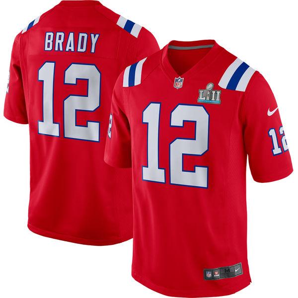 NFL ペイトリオッツ トム・ブレイディ 第52回スーパーボウル 進出記念 ゲーム ユニフォーム/ジャージ ナイキ/Nike レッド