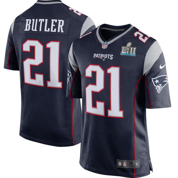 NFL ペイトリオッツ マルコム・バトラー 第52回スーパーボウル 進出記念 ゲーム ユニフォーム/ジャージ ナイキ/Nike ネイビー
