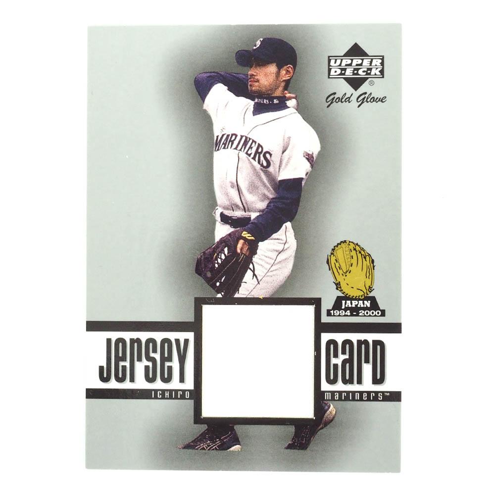 MLB マリナーズ イチロー 2001 ゴールドグラブ ジャージ カード(試合着用ユニホームの一部付き) アッパーデック/Upper deck