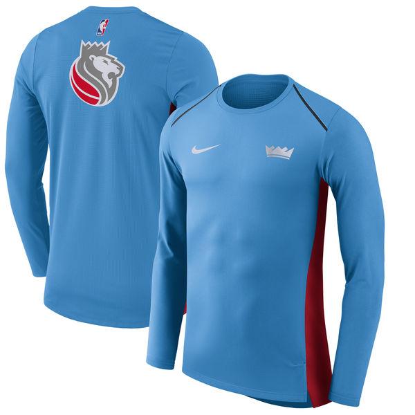 お取り寄せ NBA キングス シティ・エディション ハイパーライト ロング パフォーマンス Tシャツ ナイキ/Nike ブルー