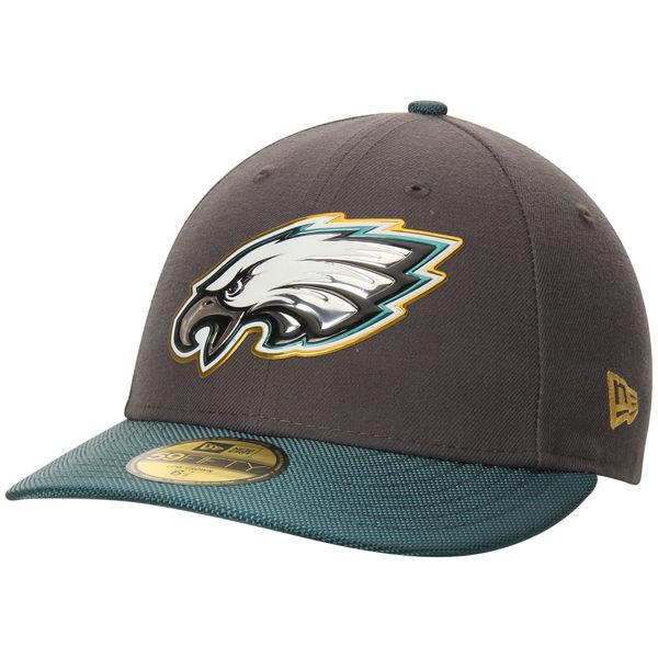 NFL イーグルス ゴールドコレクション オンフィールド ロークラウン 59FIFTY キャップ/帽子 ニューエラ/New Era グラファイト