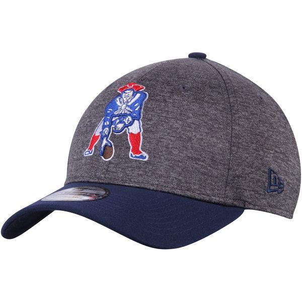 NFL ペイトリオッツ ヒストリック ロゴ シャドー テック 39THIRTY フレックス キャップ/帽子 ニューエラ/New Era ヘザーグレー