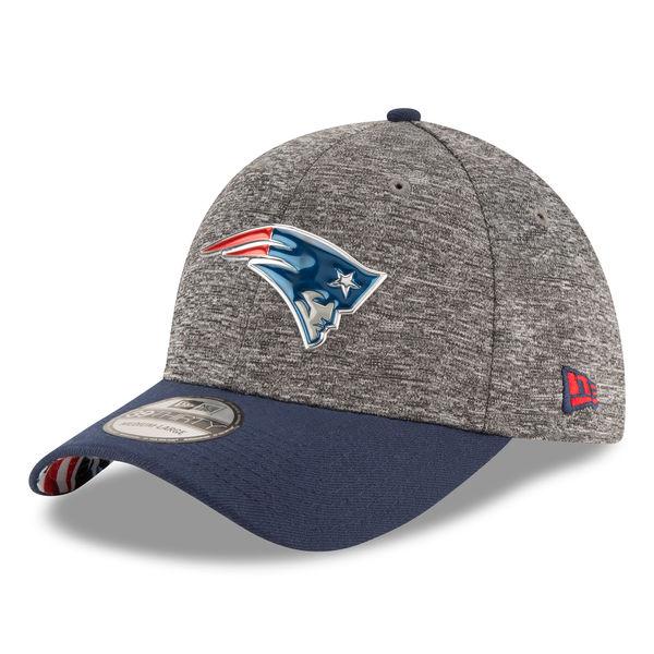 NFL ペイトリオッツ ドラフト 39THIRTY フレックス キャップ/帽子 ニューエラ/New Era ヘザーグレー